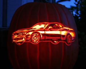Hellcat of a cool pumpkin carving!
