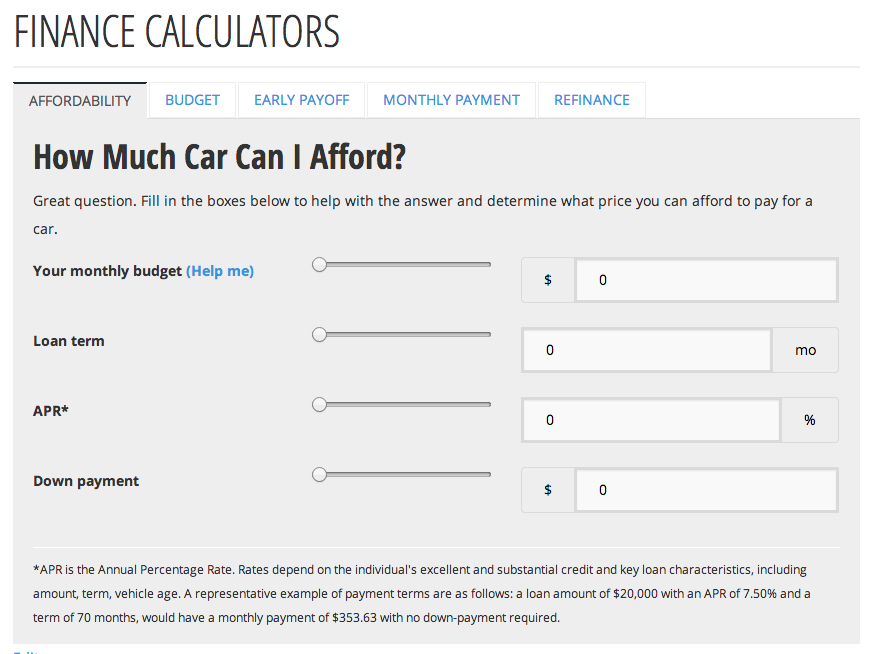 first time car buyer s battle of the budget finance calculators