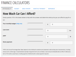 First-time car buyer's battle of the budget – finance calculators reporting for duty.2