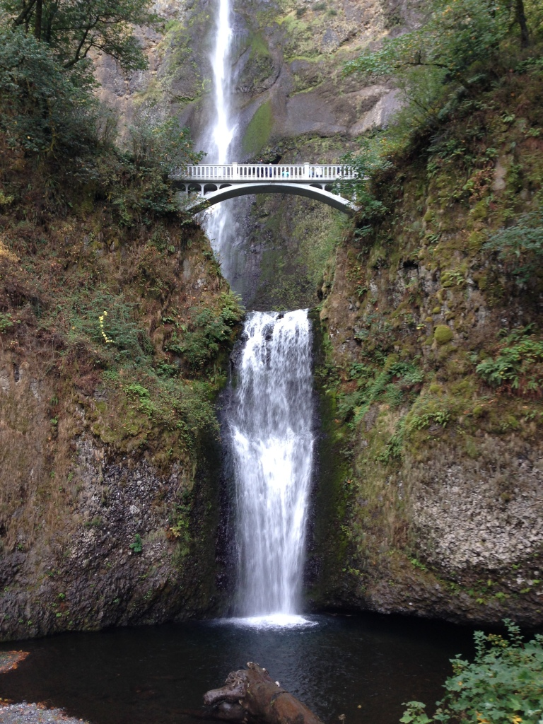 Multnomah Falls, about 30 miles east of downtown Portland