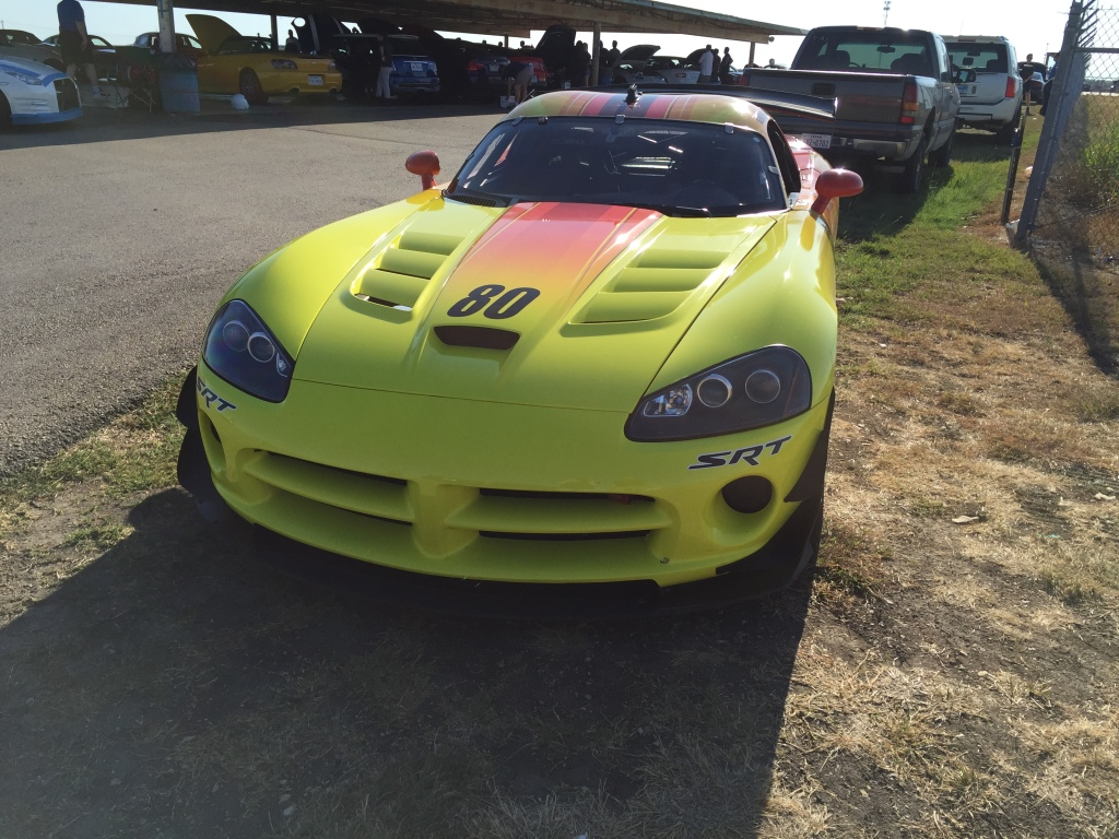 Track Night in America is for streetcars only, so this Viper was restricted to the sidelines for the evening.