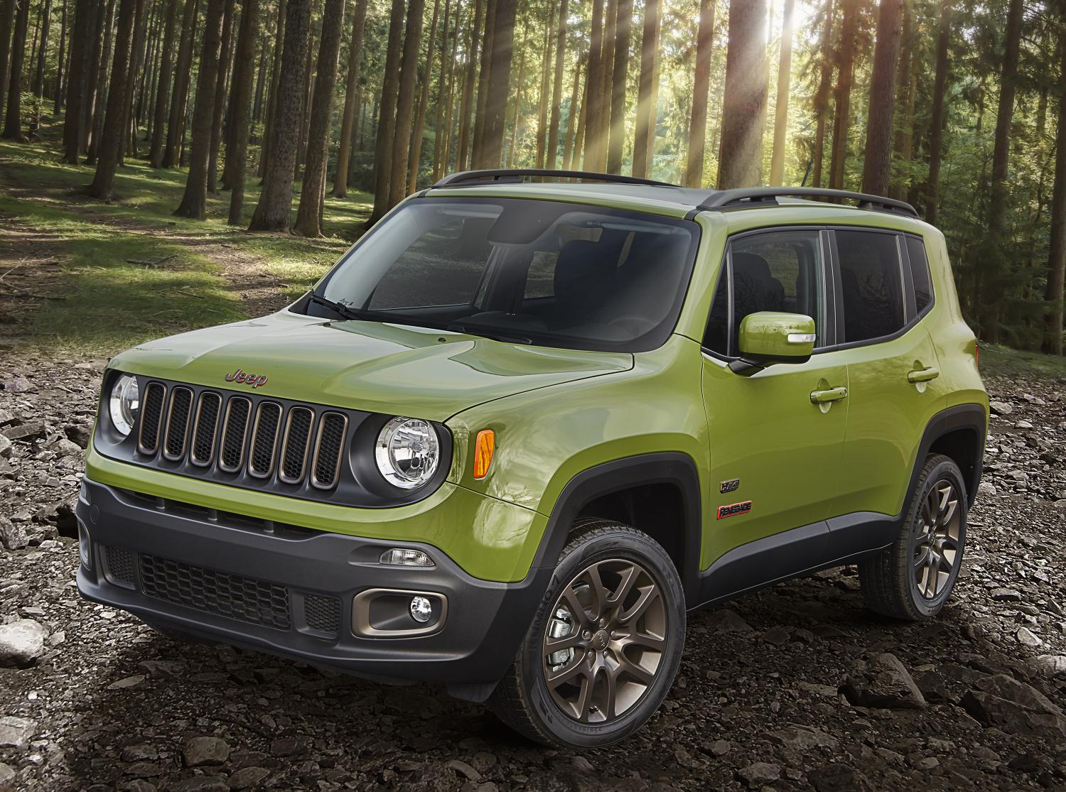 75th anniversary Jeep Renegade pictured in Jungle Green