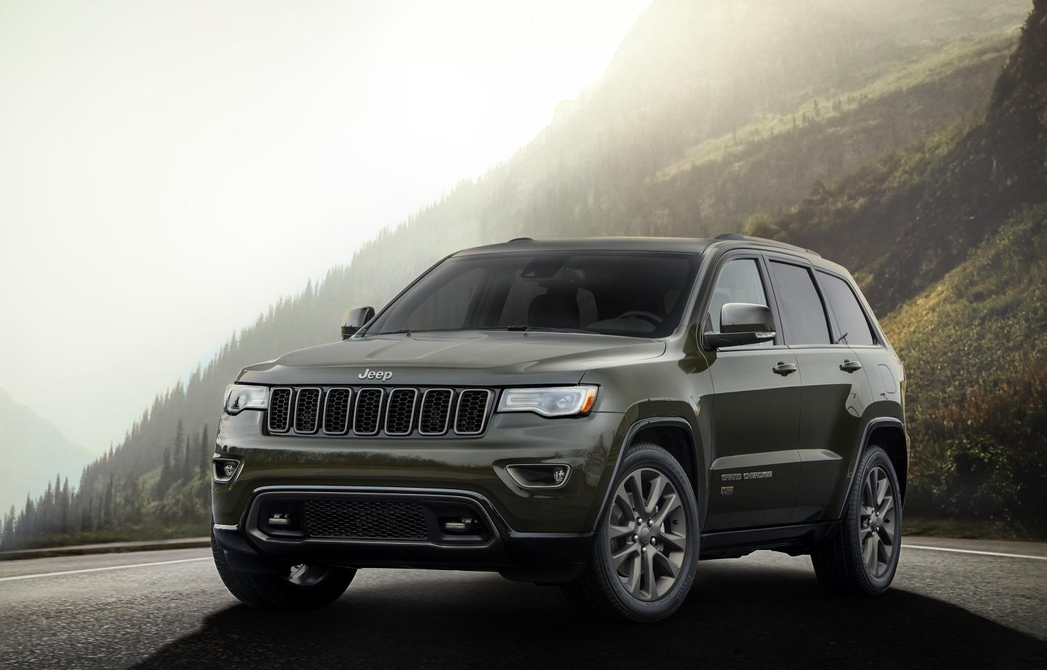 75th anniversary Jeep Grand Cherokee pictured in Recon Green