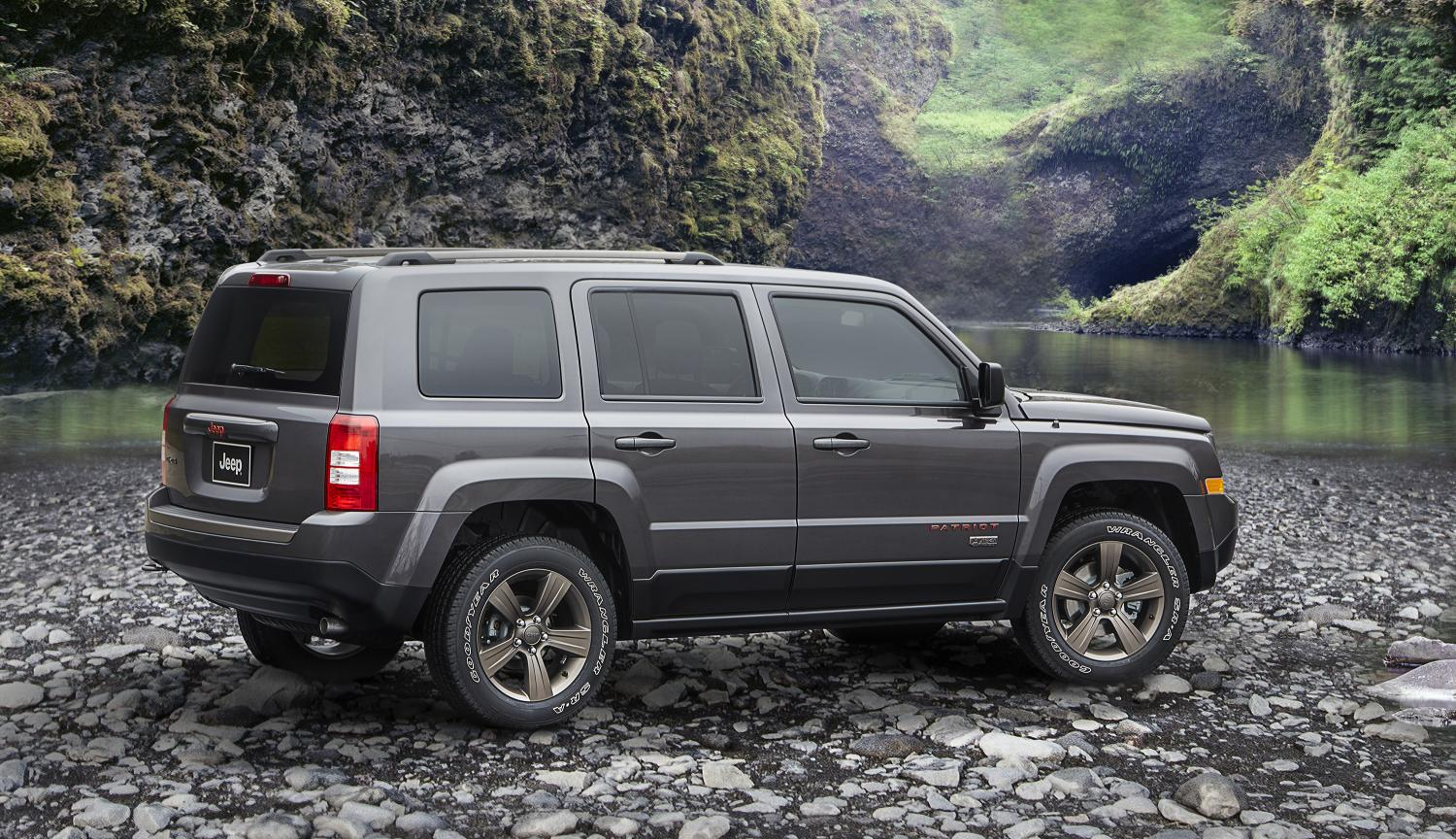 75th anniversary Jeep Patriot pictured in Granite Crystal