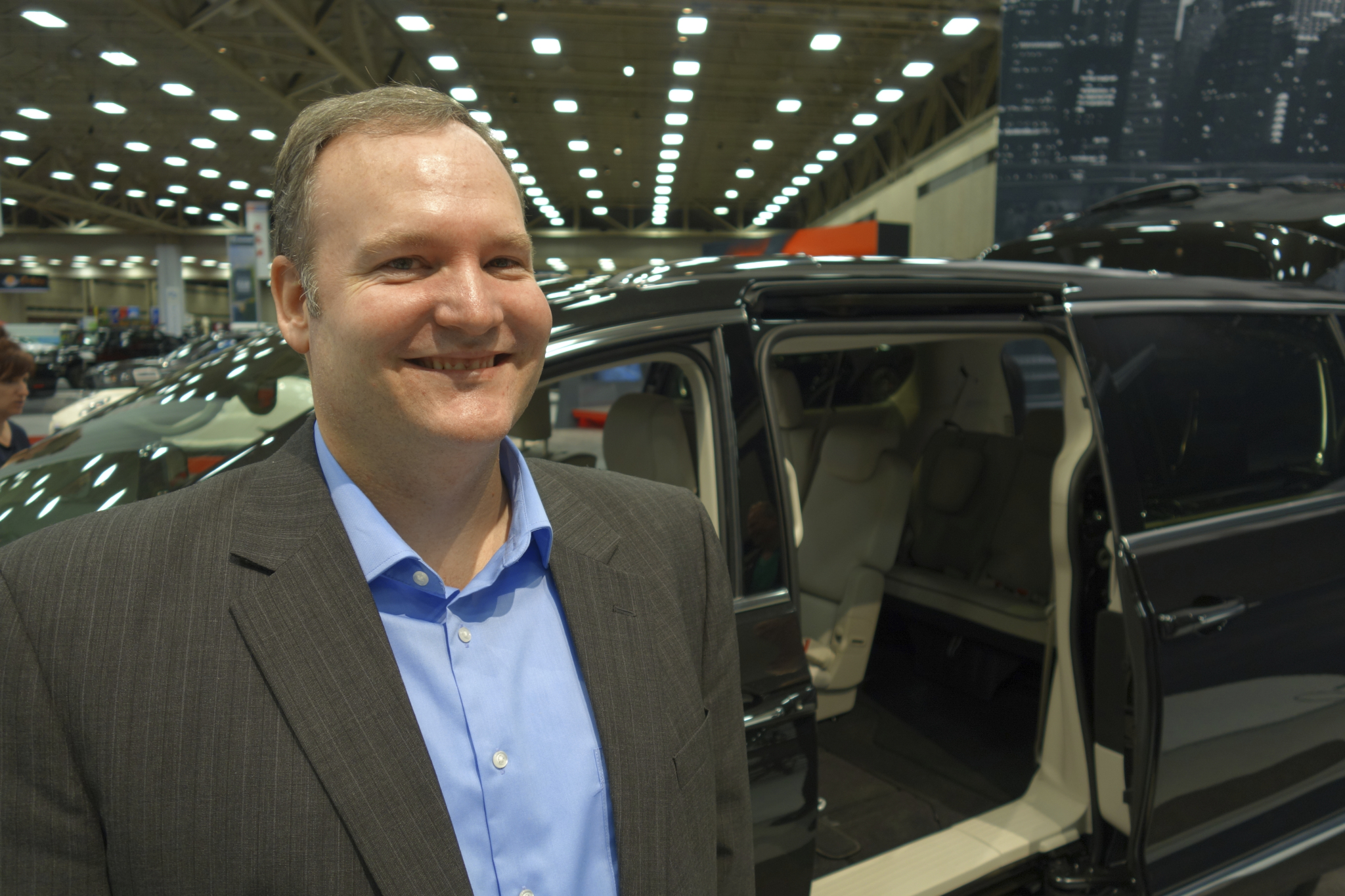 Chrysler Brand Product Manager Patrick Keitz at the DFW Auto Show Photo by Brad Koehn