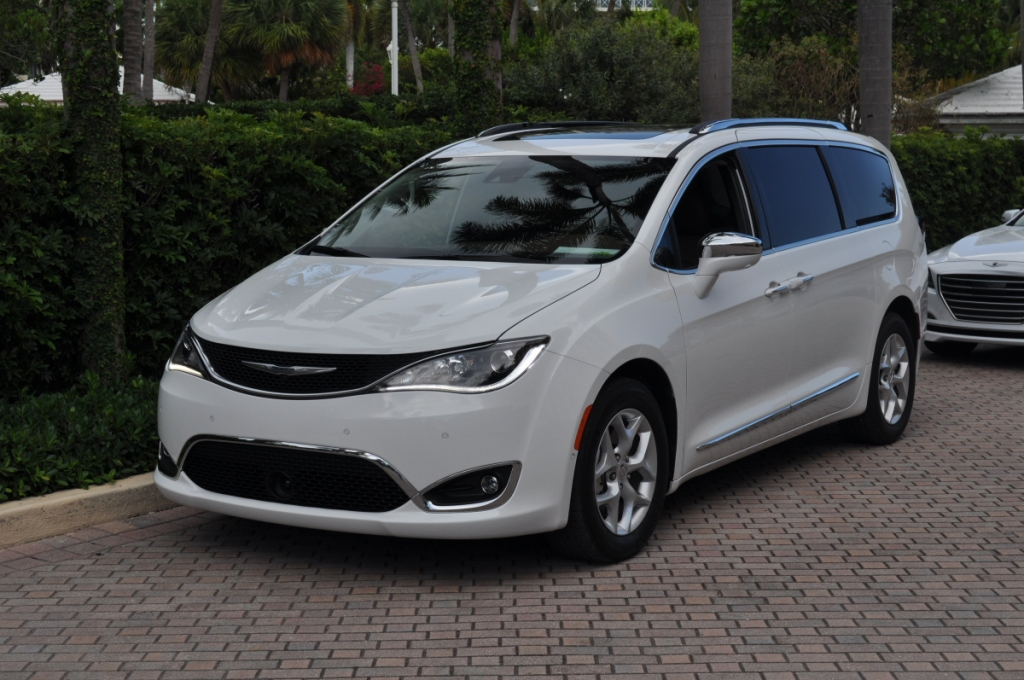 front-of-white-chrysler-pacifica