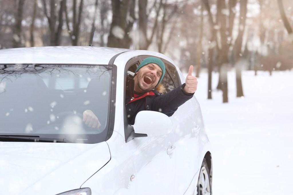 Warming vehicle happy driver