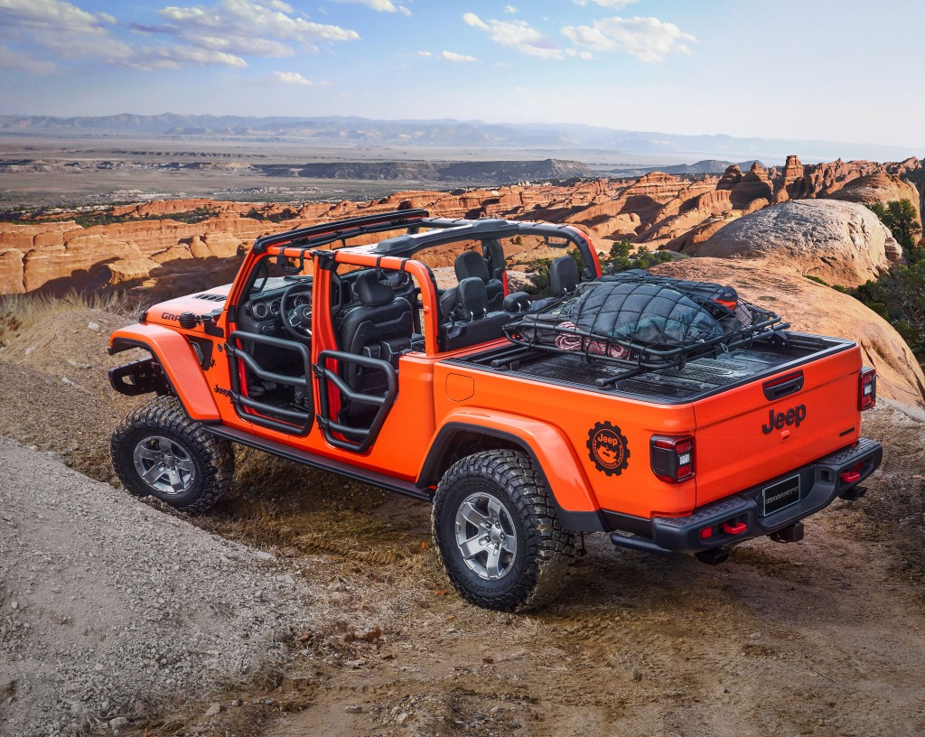 Jeep Gladiator Gravity overhead view
