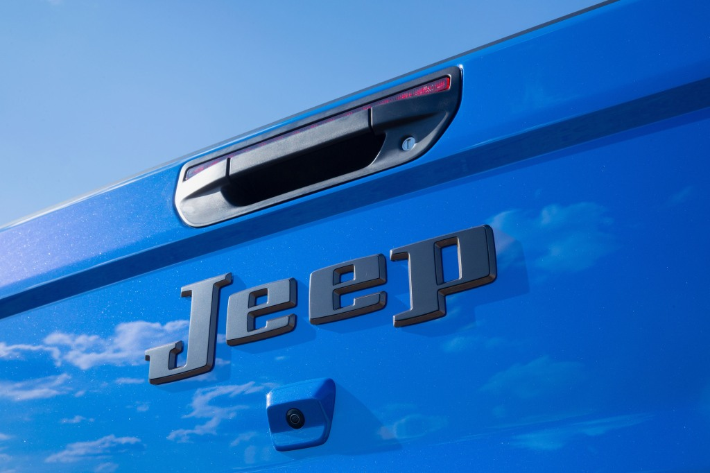 Jeep J6 tailgate close-up
