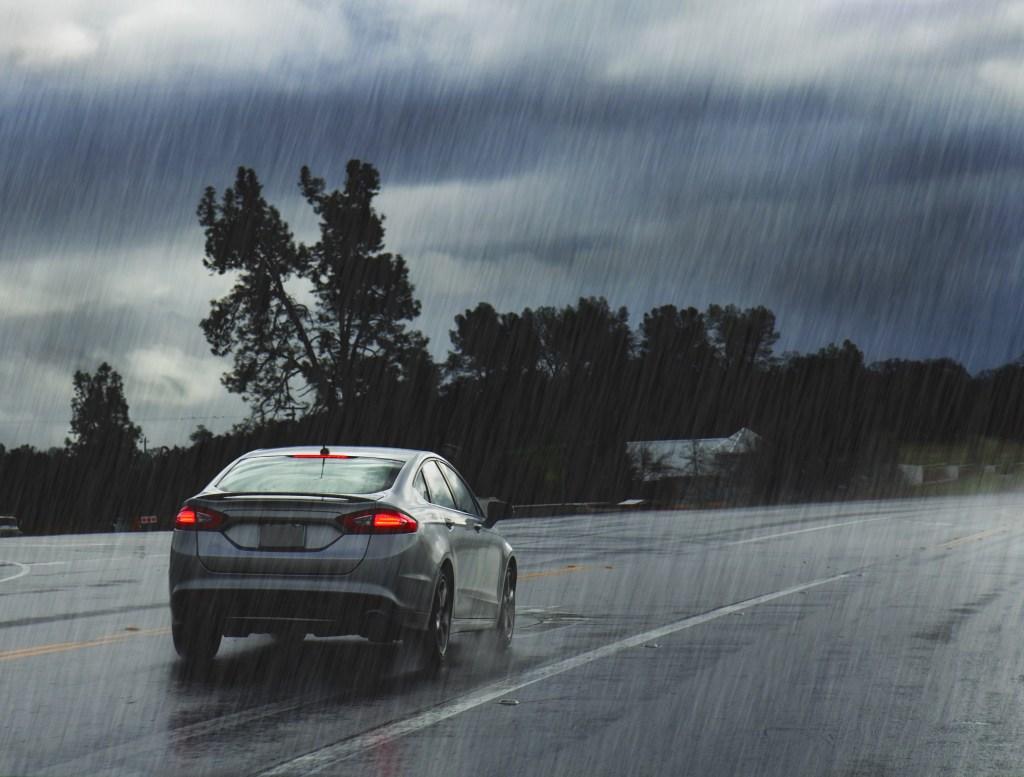 Rain storm road trip