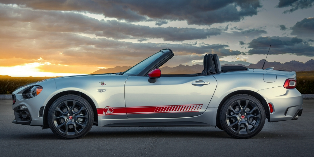 FIAT 124 Spider Abarth Scorpion Sunset