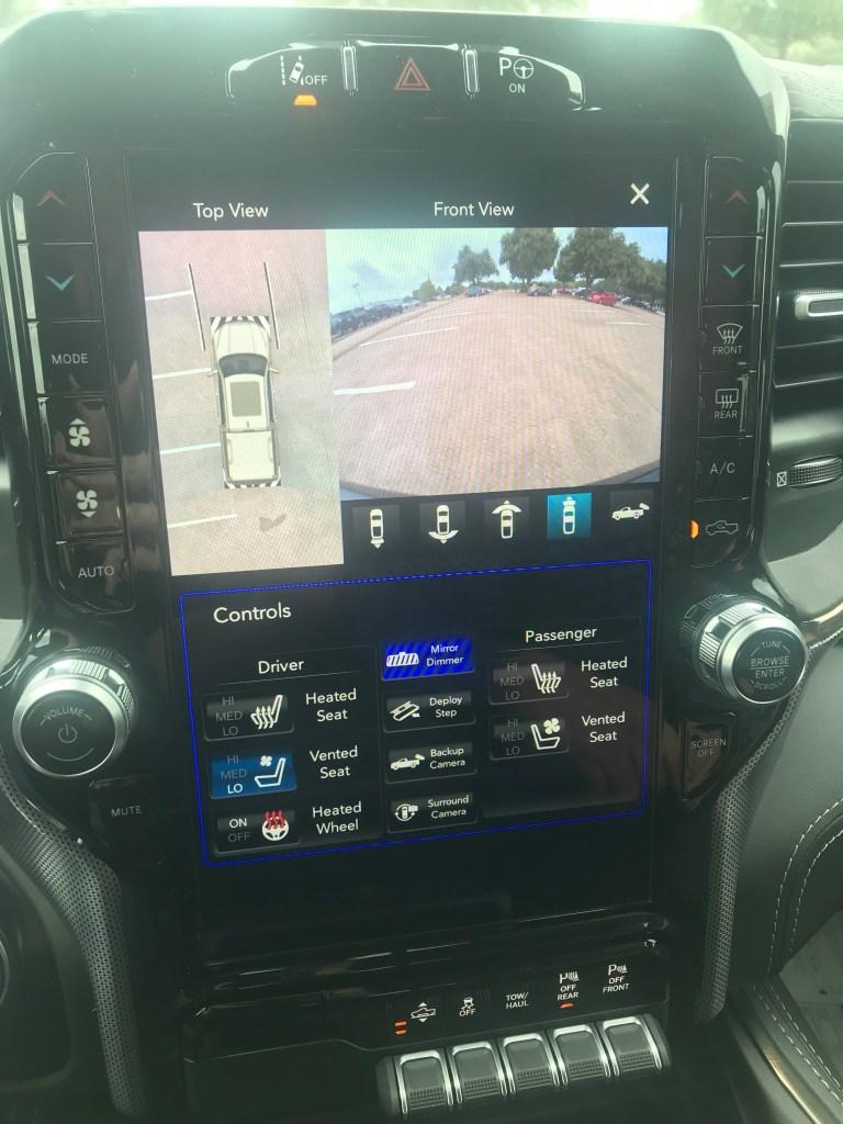 2020 Ram 1500 touchscreen