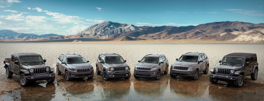 Jeep 80th anniversary edition lineup