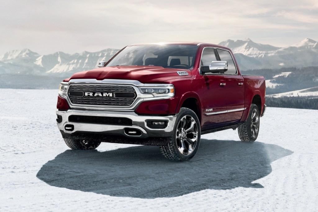 Ram 1500 in snow