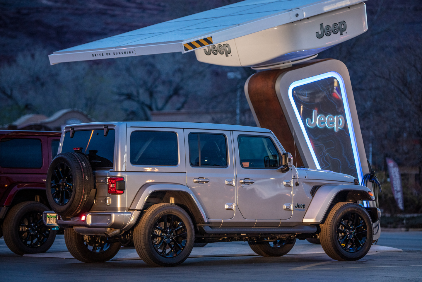 Jeep Wrangler 4xe at charging station